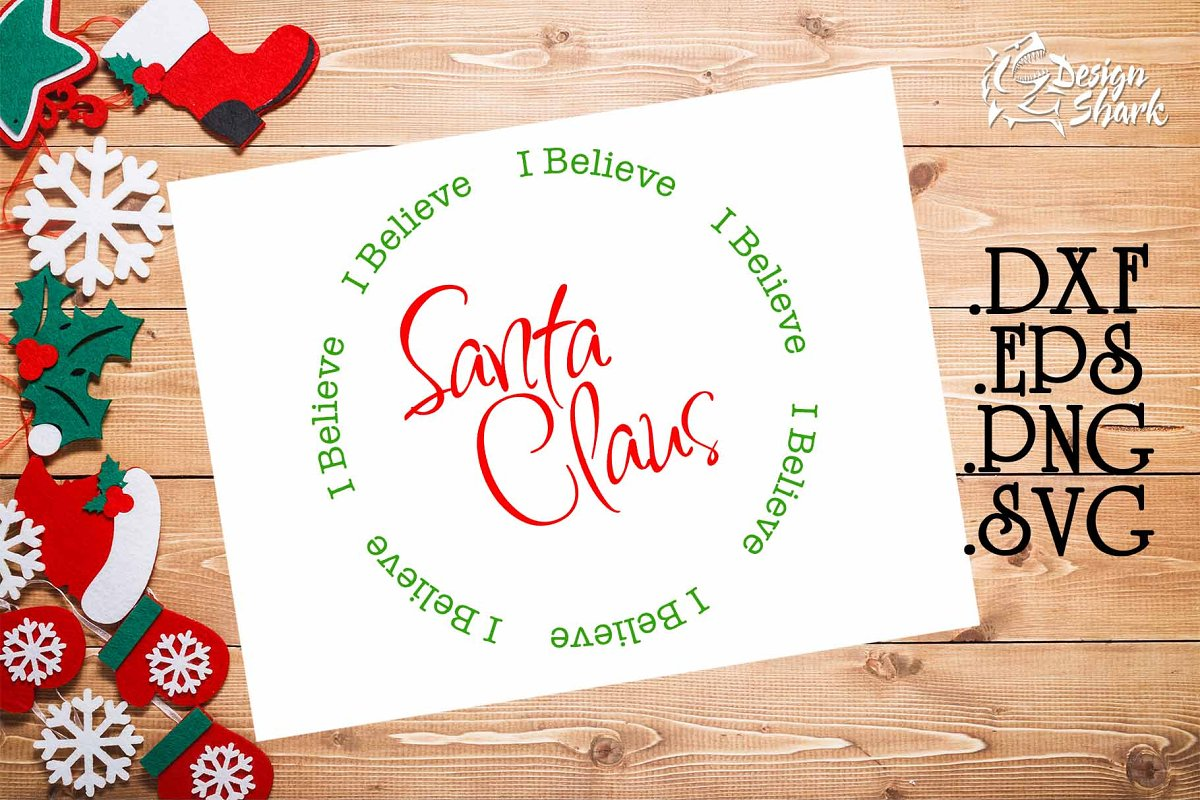 I Believe Santa Claus SVG in Illustrations - product preview 8