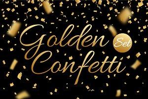 Confetti, glitters. Vector+JPG+PNG.