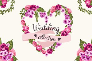 Wedding collection with flowers