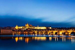 Panorama of Charles Bridge (Karluv most) and Prague Castle