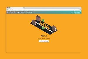 Error Uno - 404 Page | Bootstrap 4