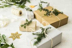 Christmas gifts with decoration I