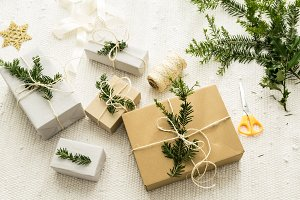 Christmas gifts with decoration III