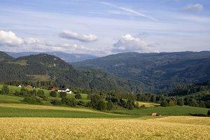 Farmland in Gudbrandsdalen