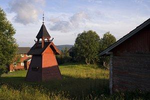 Bell tower on a Norwegian farm