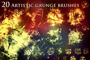 33% OFF - 20 Artistic Grunge Brushes