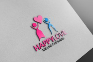 Happy Love Logo