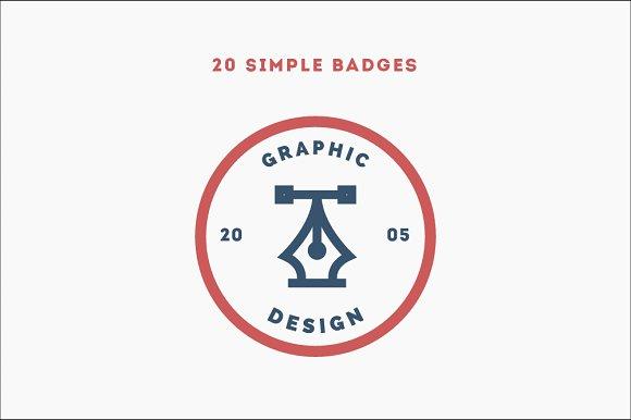 20 Simple Badges