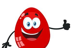 Red Easter Egg Flat Design