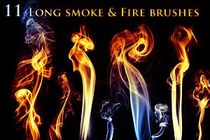 11 Long Smoke & Fire Brushes