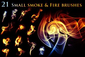 21 Small Smoke & Fire Brushes