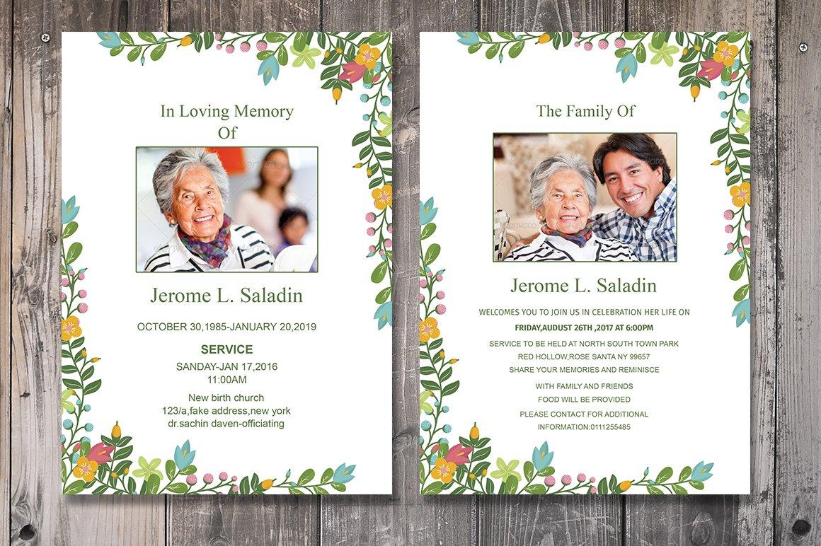 Funeral Invitation or Announcement ~ Invitation Templates ~ Creative ...