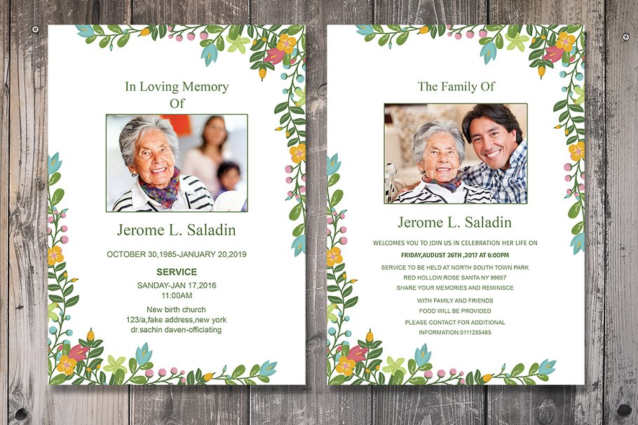 Funeral Invitation Or Announcement