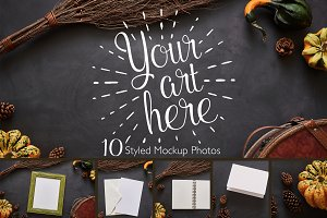 Fall Harvest Photo Mockup Bundle