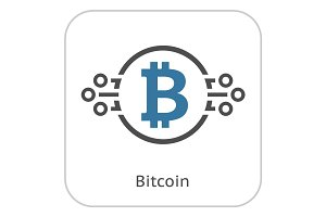 Bitcoin Cryptocurrency Icon.