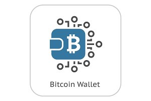 Bitcoin Wallet Icon.