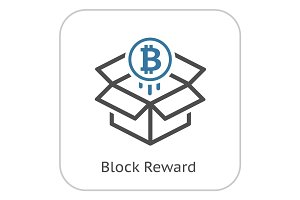 Bitcoin Block Reward Icon.