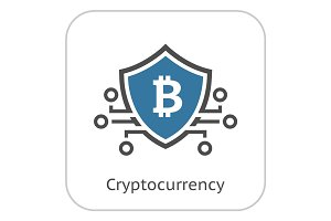 Bitcoin Crypto Currency Icon.