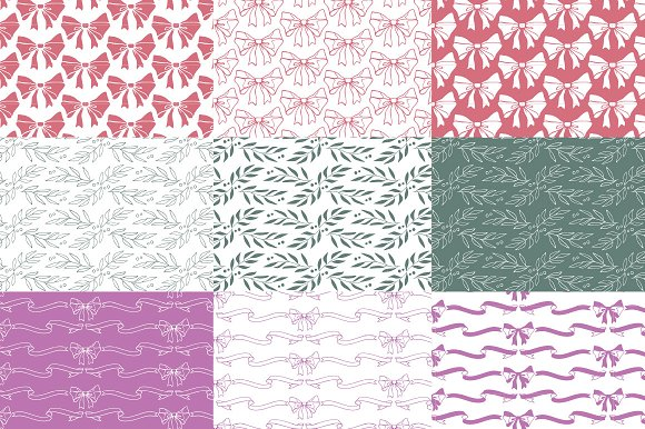 Christmas patterns & elements in Graphics - product preview 3