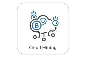 Cloud Mining Icon.
