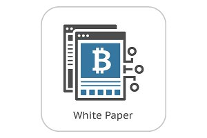 Bitcoin White Paper Icon.