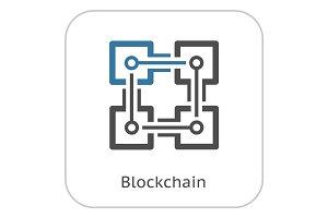 Blockchain Icon.