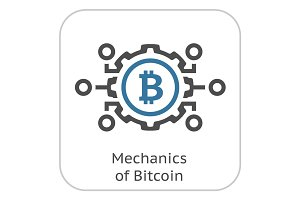 Mechanics of Bitcoin Icon.