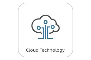 Cloud Technology Icon.