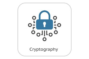 Cryptography Icon.