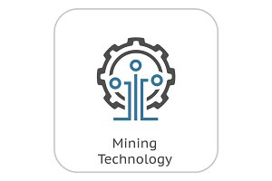 Mining Technology Icon.