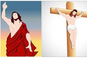 Jesus Christ Vector Characters