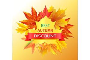 Best Autumn Discount Promo Advertisement on Yellow