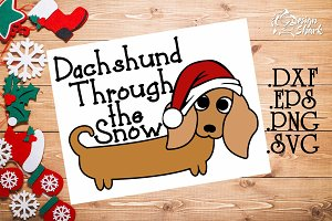 Dachshund Through the Snow SVG