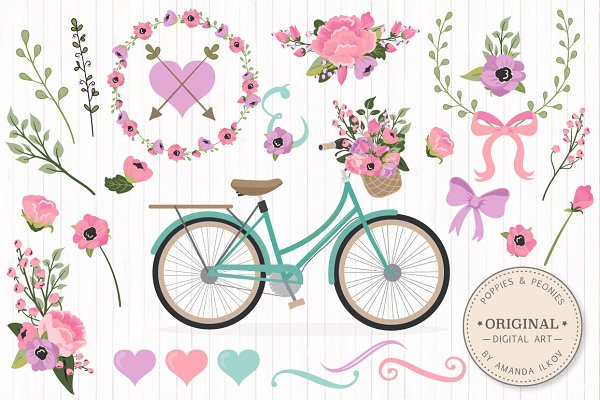 Garden Party Floral Bicycle & Extra…