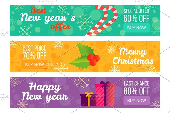 Best New Year's Offer Christmas Sale Advertising