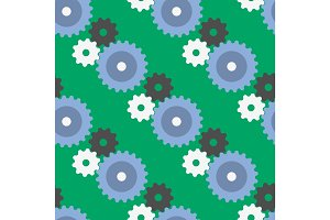 Vector gears seamless pattern background