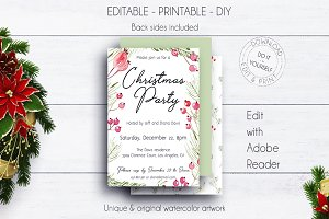 Christmas Party Printable Invitation