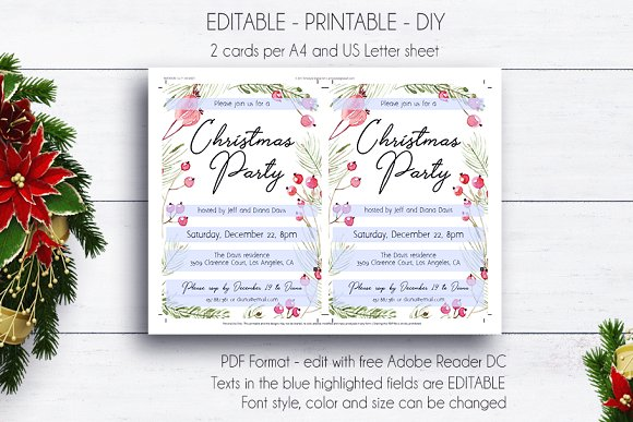 Christmas Party Printable Invitation Creative Daddy