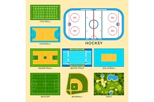 Sport game field vector ground line playground soccer green stadium grass background winner champion illustration