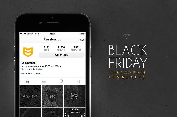 Instagram Black Friday Templates