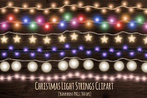 Christmas fairy light strings