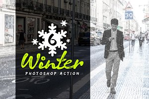 6 Winter Photoshop Action