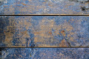 Blue weathered wood surface