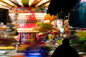 Blurred lights of a carousel