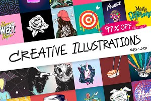 Creative Illustration Mega Bundle