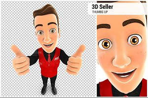 3D Seller Thumbs Up