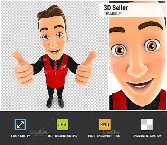 3D Seller Thumbs Up
