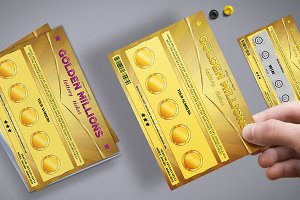 Small Lottery Ticket in Golden Style