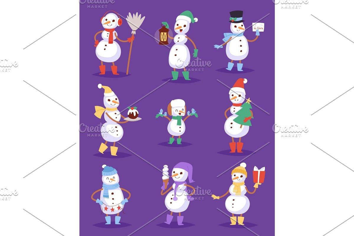 5d4fd6391950a Snowman cute cartoon winter christmas character holiday merry xmas ...
