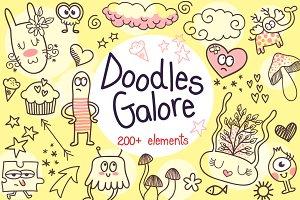 200+ Doodles Galore Bundle